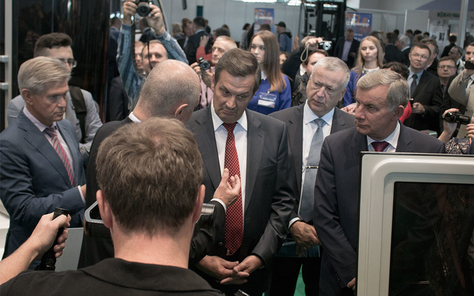 SkyWay at the exhibition in Minsk. The visit of the Deputy Prime Minister of the Republic of Belarus