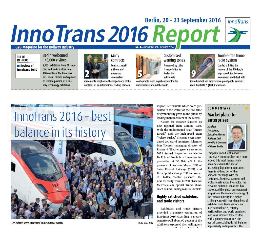 InnoTrans 2016 Report: 60 Faces from 60 Countries