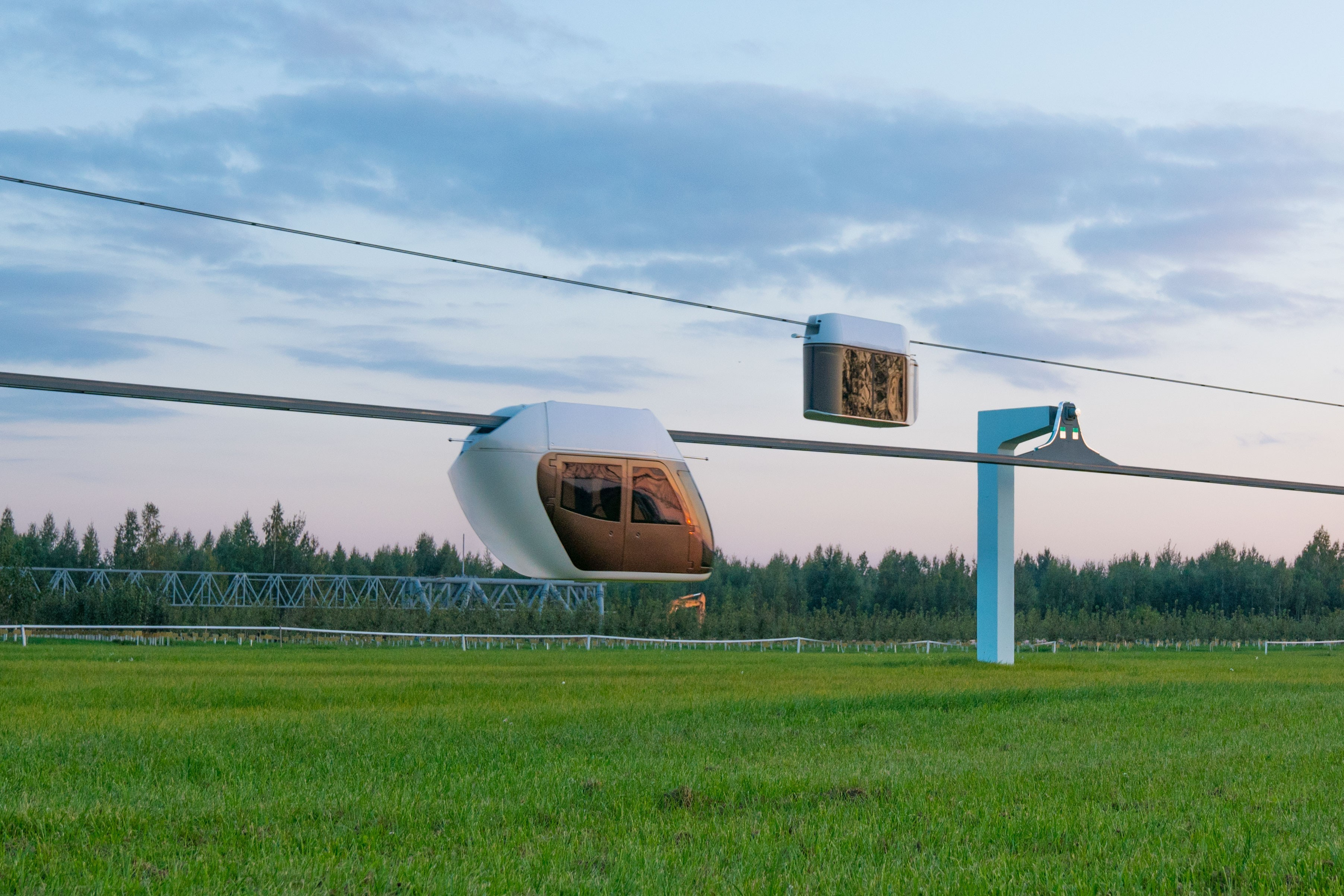 SkyWay unibus and unibike at EcoTechnPark in Belarus