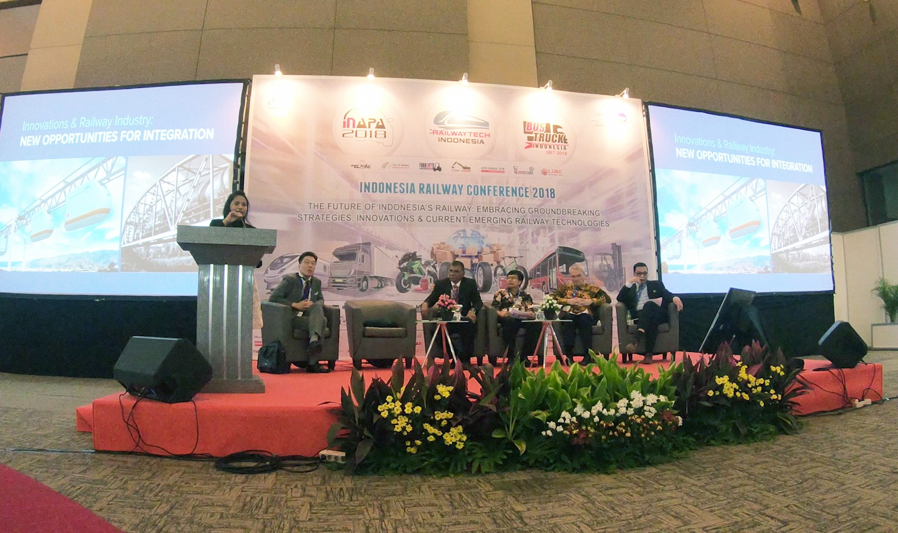 SkyWay, Sky Way, SkyWay in Belarus Yunitsky, string transport, technology, RailwayTech Indonesia 2018, SkyWay technology, Madinatul Fadhilah, exhibition