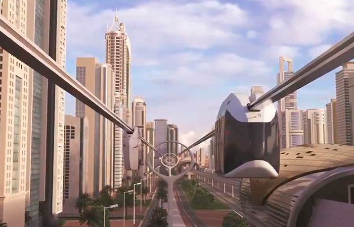 Dubai announced the creation of a 15 km SkyWay urban transport system