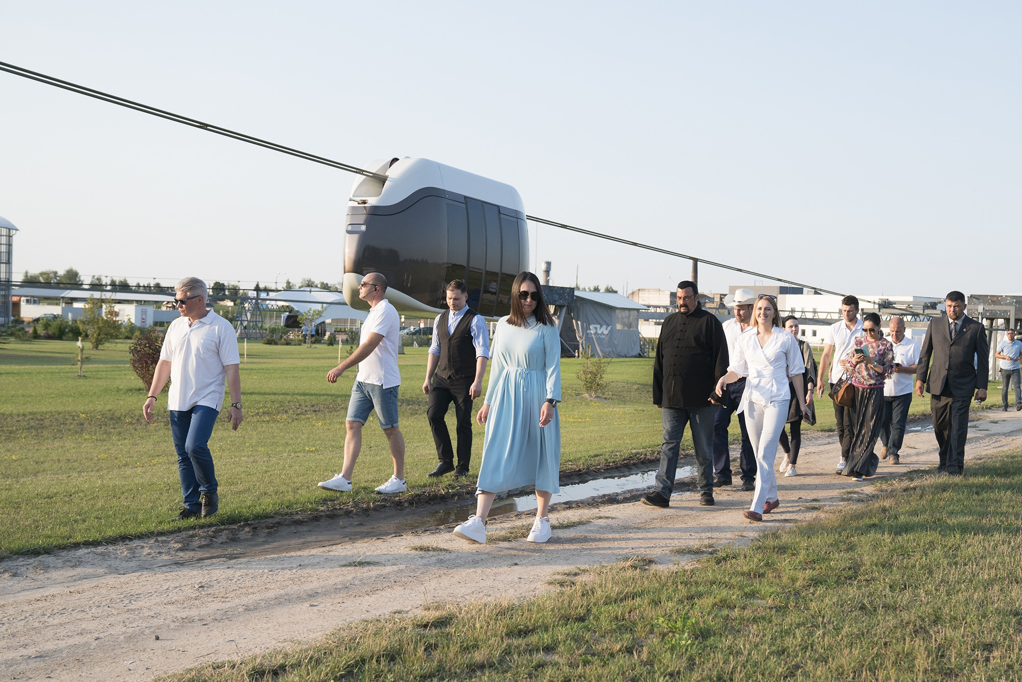 SkyWay, Sky Way, SkyWay in Belarus Yunitsky, string transport, EcoTechnoPark, Steven Seagal, visit